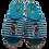 Thumbnail: ALBEROLA HAUSSCHUH / PANTOFFEL HELLE SOHLE BULLDOGGE 48016A - SEHR SCHMAL!!!