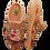 Thumbnail: ALBEROLA HAUSSCHUH / PANTOFFEL HELLE SOHLE EULE BEIGE A11323A
