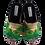 Thumbnail: SCHUHKÖNIG Hausschuh Pantoffel HELLE Sohle Wellensittich 5557