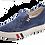 Thumbnail: Lanqier Comfort Keilslipper Velourleder 46C1757 Blau