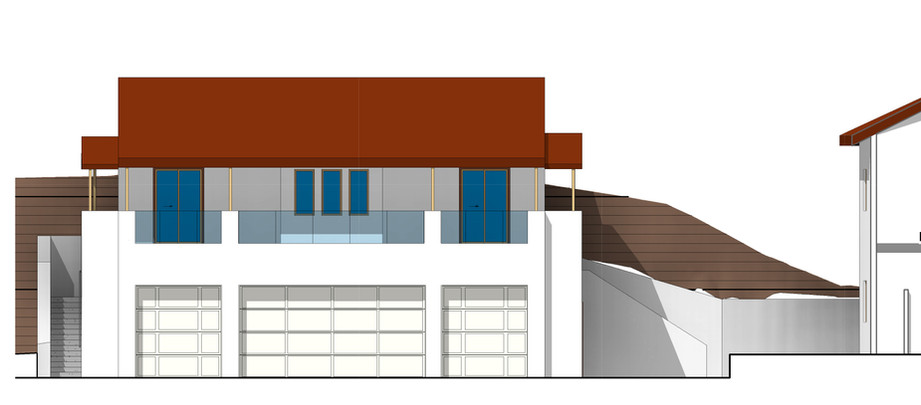 sketch of hillside garage and additional living quarters - Private Client
