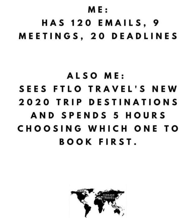 Travel meme, FTLO TRAVEL