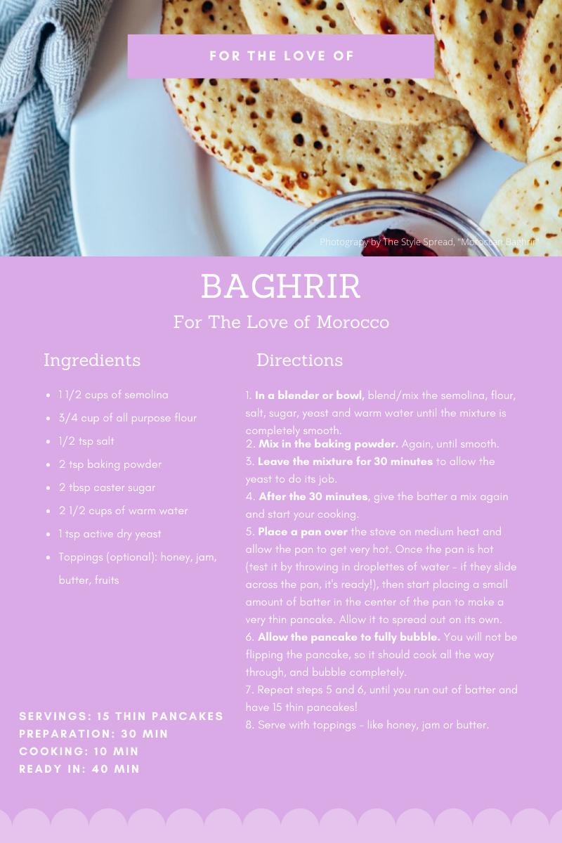 Quarantine Recipes, FTLO Travel, Morocco