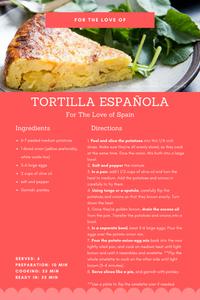 Quarantine Recipes, FTLO Travel, Spain