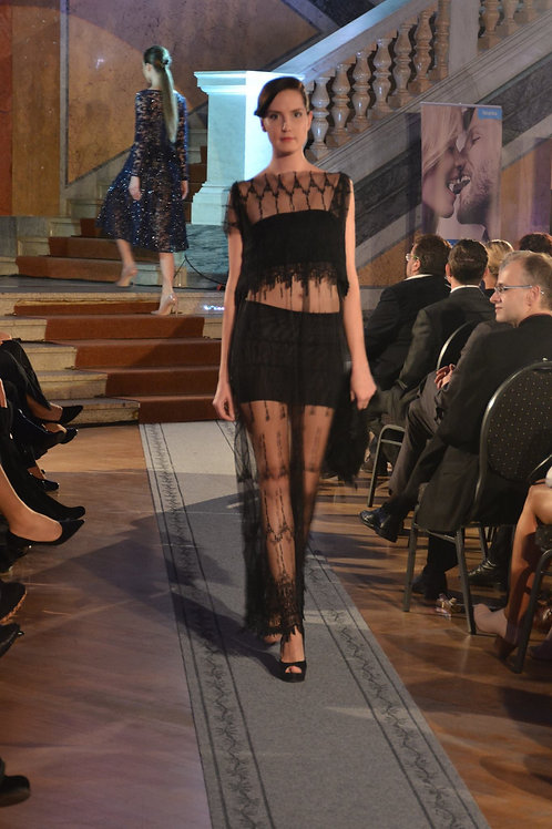 Bold lace dress