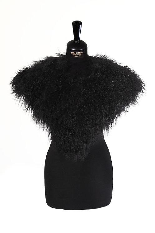 Large collar made of real fur