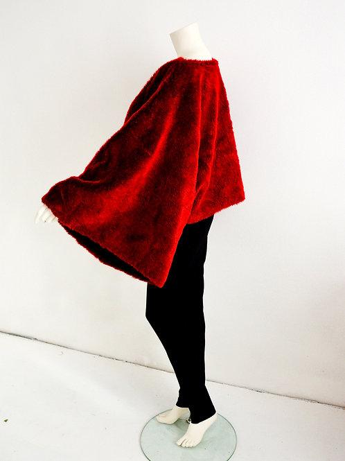 Pelerína z umělé kožešiny
