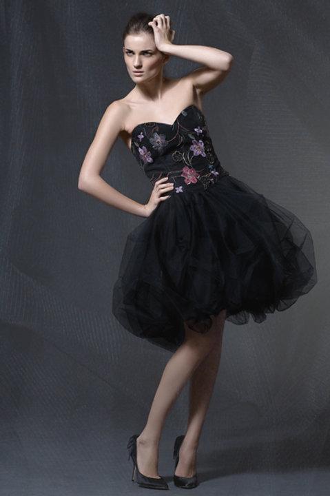 Korzetové šaty s balonovou sukní