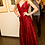 Thumbnail: Red dress made of knitted with richly sewn sequins