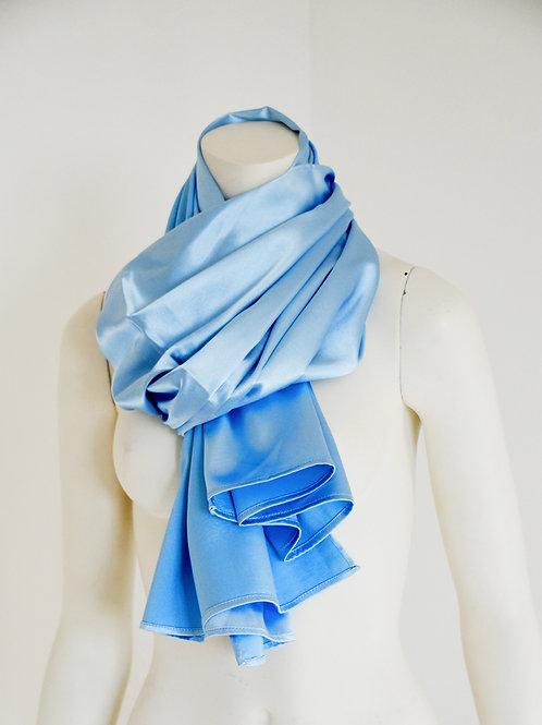 Satin scarf light blue