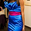 Thumbnail: Dress with arranged bodice leaves