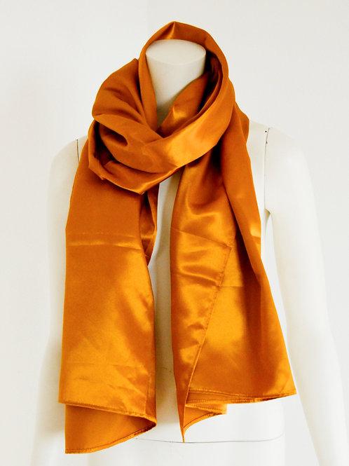 Satin gold scarf