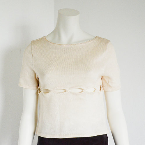 Knitted blouse with cutouts