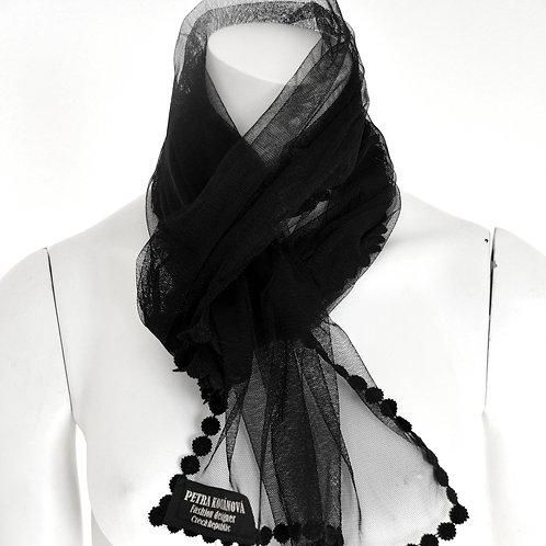 Ozdobný tylový šátek