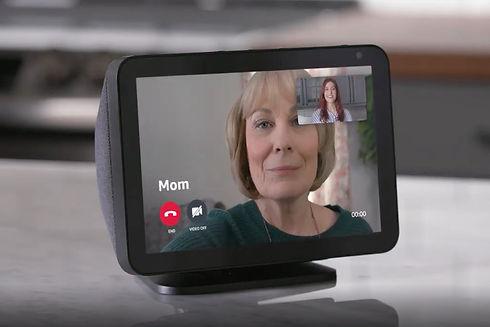 Chamada de vídeo Echo Dot Show