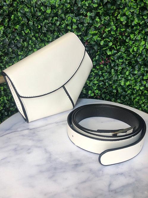 White Belt Purse