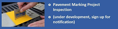 Link to Pavement Marking Project Inspection Training