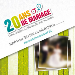Invitation Annviversaire de mariage