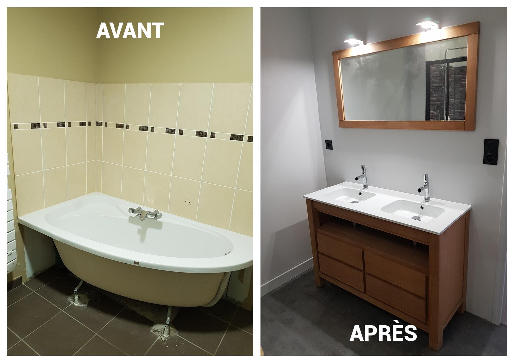 Salle de bain Avant/Après travaux