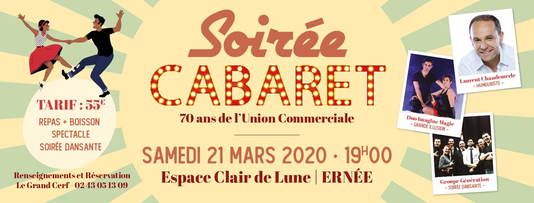 Soirée Cabaret des 70 ans de l'Union Commerciale
