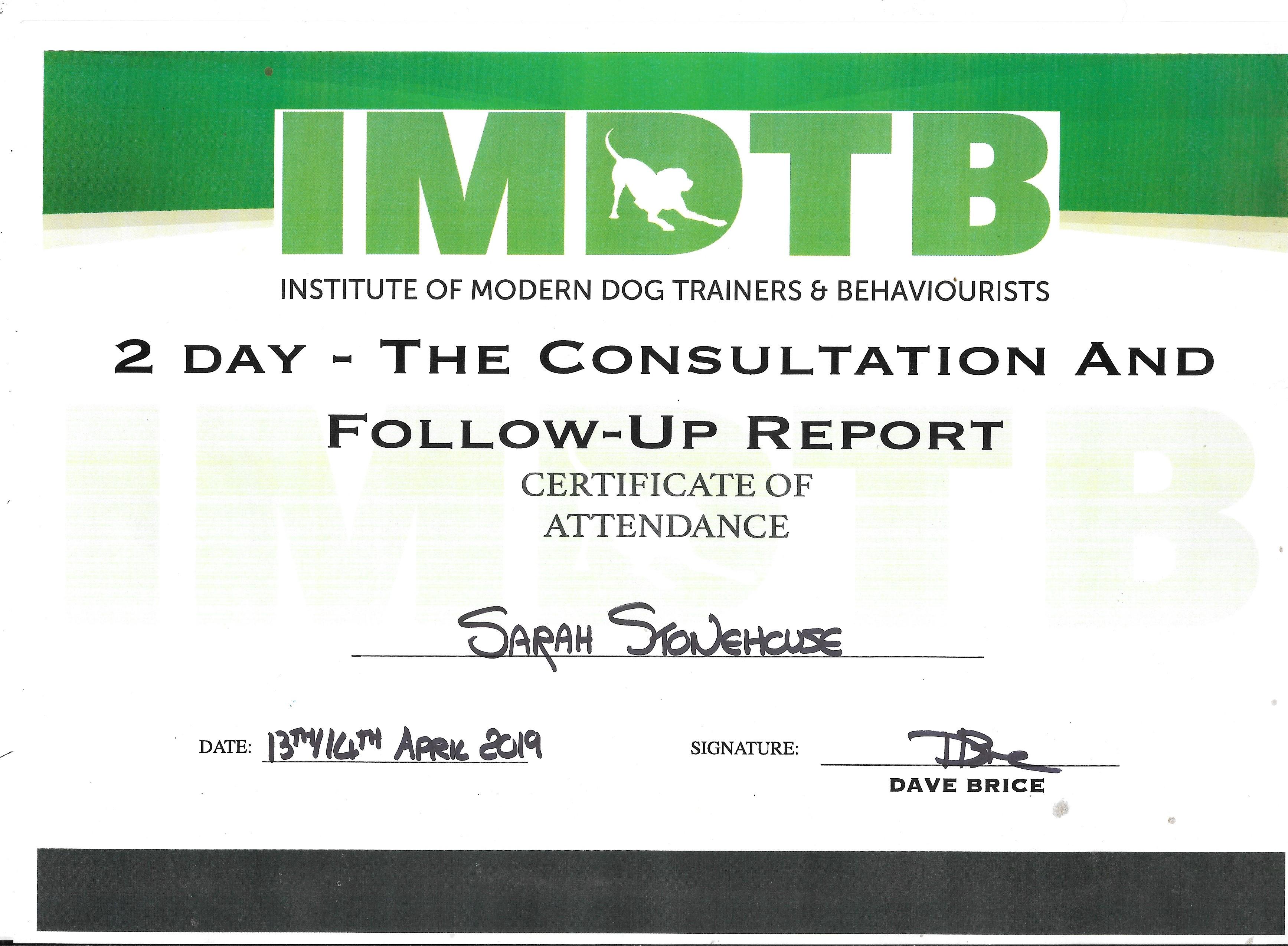 Behaviour Consultation