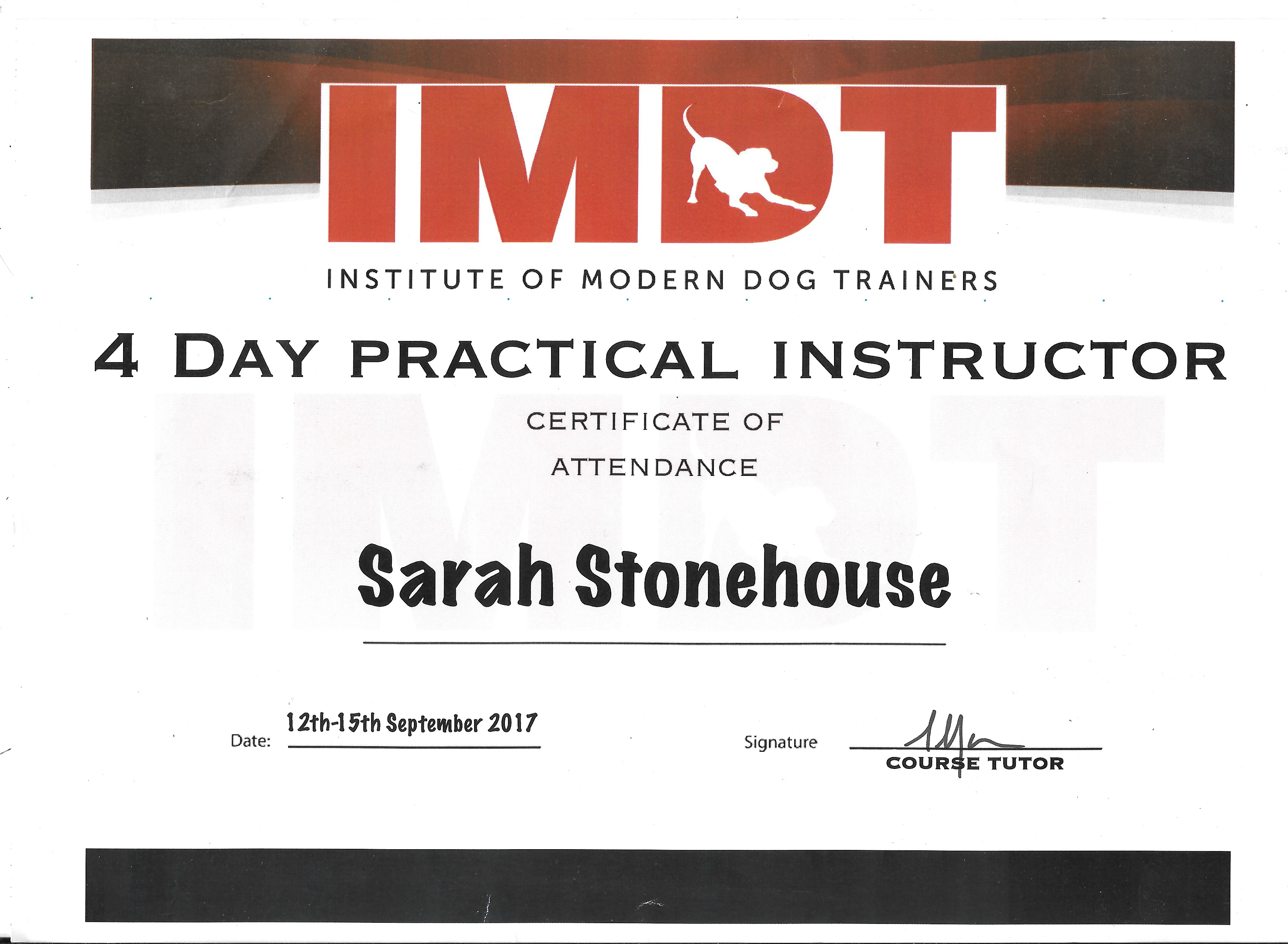 4 Day Practical Instructor