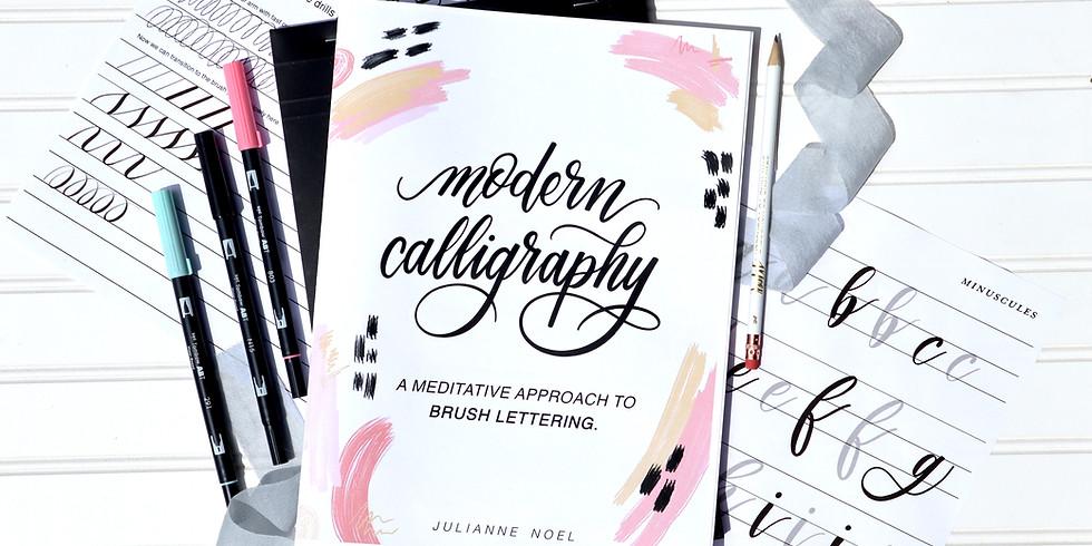 Modern Brush Calligraphy + Mindfulness Workshop