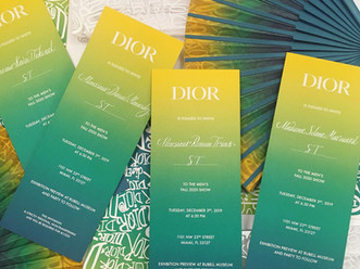 Dior Fashion Show Miami Calligraphic Details