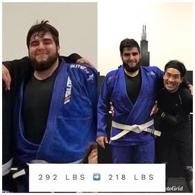 Alejandro before and after weight comparison
