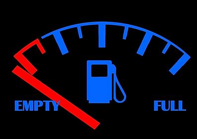 Empty gas tank icon