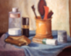 Stilleven schildrij Jeannette Hartgerink