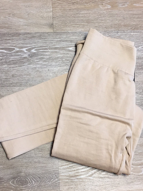 Nude fleece leggings