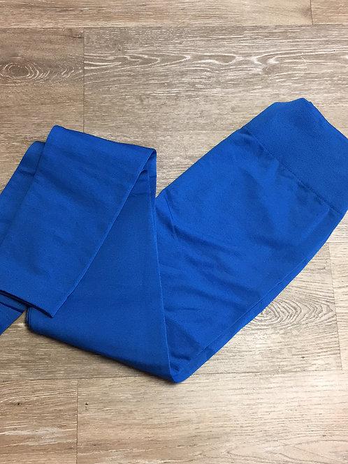 Blue fleece legging