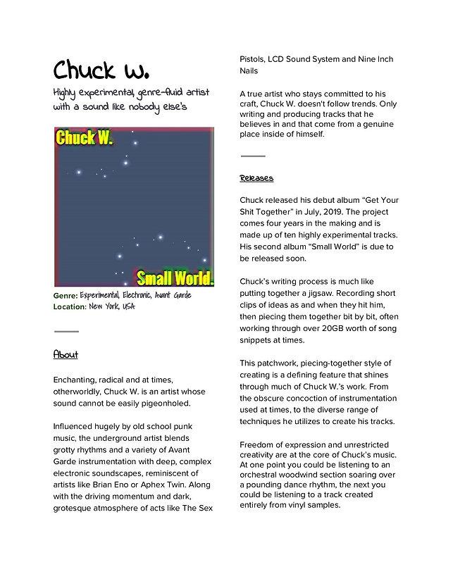 Chuck W.   Small World Written Press Rel