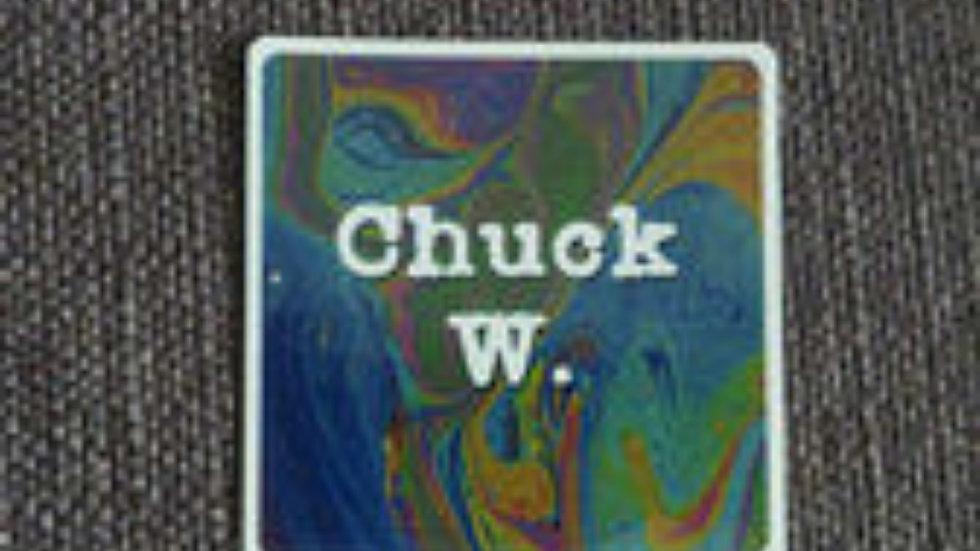 Chuck W. Psychedelic Logo Sticker 2/$3!