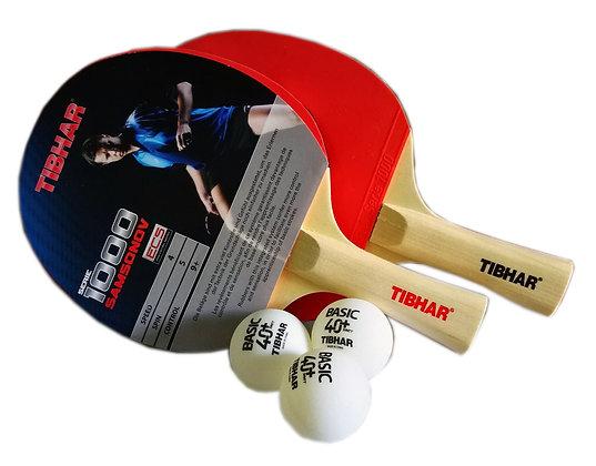 Tibhar Serie 1000 Samsonov Bat c/w Balls