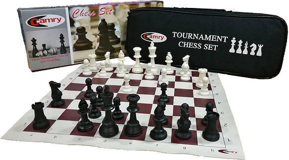 Camry Plastic Chess Set c/w Travel Bag (Tournament)