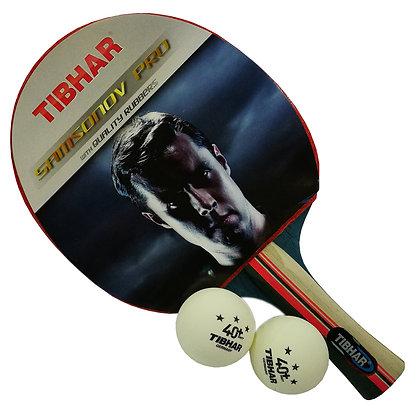 Tibhar Samsonov Pro TT Bat c/w Balls