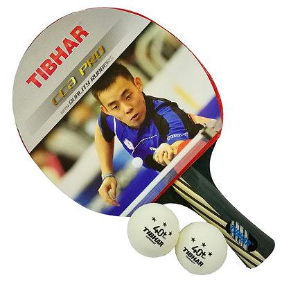 Tibhar CCA Pro TT Bat c/w Balls