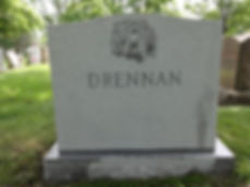 Granite cemetery headstone monuments cleaning