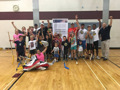 Hockey Cares Partners With Norfolk Sheriff Michael Bellotti and Dedham Recreation.