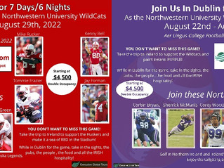 College Football in Dublin, Ireland? Join Us Football, Golf and Spectacular Adventures!