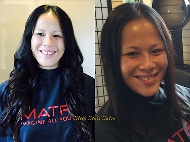 Sleek Style Salon Hair Extensions client before and after