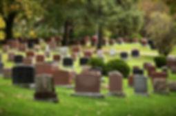 Granite cemetery headstones