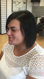Sleek Style Salon Hir Extension short hair before