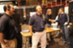 MArk lawhorne consulting at one of the many events that Blacksmith Communication works on.