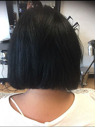 Sleek Style Salon Short style before extensions
