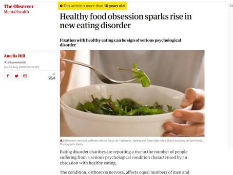 健康的な食べ物への執着が新たな摂食障害を助長させる傾向がある【by 平田 進一郎】