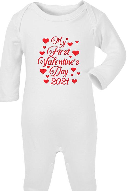 My First Valentine's Day Sleepsuit