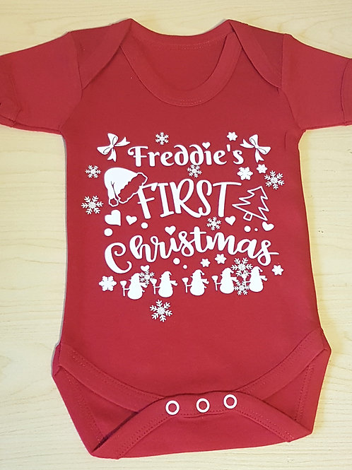 First Christmas Red Vest
